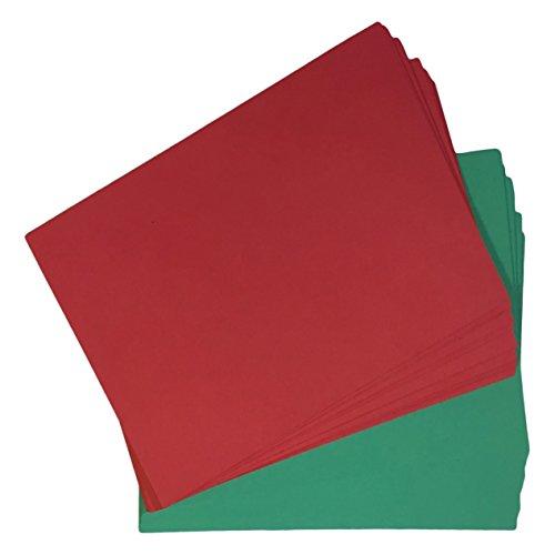 House of & Papier A5Weihnachten Karte–Rot/Grün