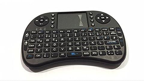 CDC® 2.4GHz Wireless Kabellose Mini Tastatur (92 Keys) Ergonomische mit Touchpad-Maus und Ersatz Wiederaufladbare Li-ion Batterie für Smart TV, Raspberry Pi,Mini PC, HTPC, Computer und Konsolenspiele MacOS,Linux, Android,XBMC,Windows 2000 XP Vista 7 8