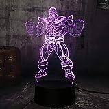 Veilleuses 3D Avengers Marvel Comics Iron Man Spider-Man Captain America LED Jouets pour enfants Cadeaux de Noël Lampes de table Chambre Décoration