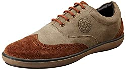 U.S. Polo Assn. Mens Brown Leather Loafers and Moccasins -7 UK/India (41 EU) (8 US)