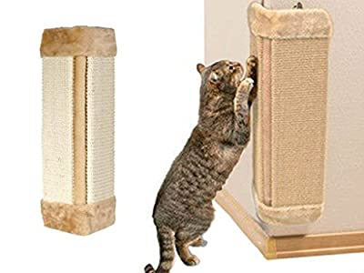 ADEPTNA New Cat Pet Wall Corner Scratching Scratch Board Mat Post Tree Scratcher Sisal Rope from ADEPTNA