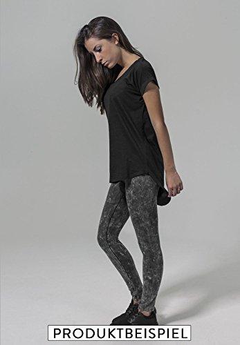 Ladies fashion leichter Oversize Shirt Tanktop Sorry I´m late I don´t want come - Schwarz & Weiß - Hinterer Schnitt Länger mit Motiv - Neu Schwarz