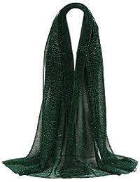 72690dc2e3 Rovinci Mode Femmes Couleur Unie Fil d'or Plier de Plein Air Longue Doux  Emballage