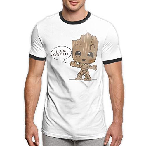 Patrick R Garrett G-Root T-Shirt Trendy Herren Ringer T-Shirt Lässig Kurzarm T-Shirt Top -