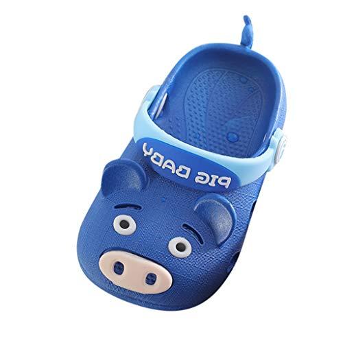Hunpta@ Kinder Baby Jungen Mädchen Schwein Cartoon Strand Sandalen Hausschuhe Sommer Flip Schuhe (Dark Blau, 160) (Schweine-hausschuhe Mädchen Für)