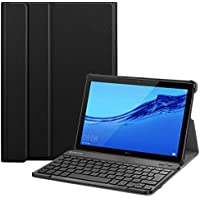 Espa/ña Funda con teclado inal/ámbrico para tableta port/átil. Funda de cuero Bluetooth desmontable para teclado con folio Lusenbo Funda con teclado para Samsung Galaxy Tab A 10.1 2019 SM-T510 // T515