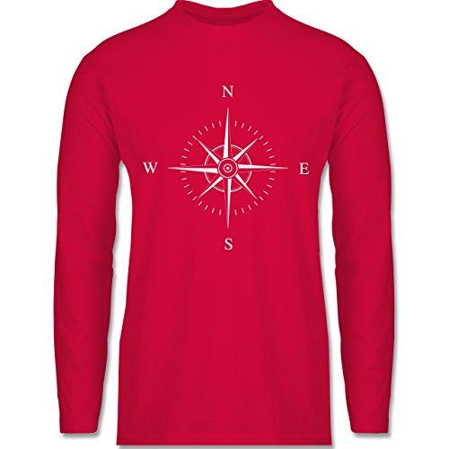 Statement Shirts - Kompassrose - Longsleeve / langärmeliges T-Shirt für Herren Rot
