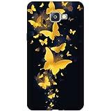 Printland Designer Back Cover for Samsung Galaxy A9 Pro - Golden Butterfly Designer Cases