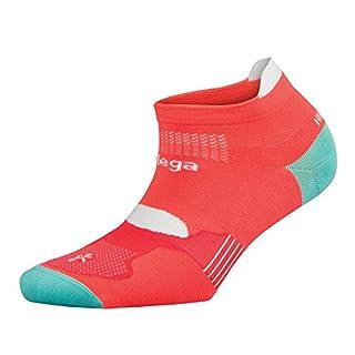 Balega Hidden Dry Moisture Wicking Socks for Men and Women (1 Paar), Unisex-Erwachsene, Neon Coral/Aqualine, Medium