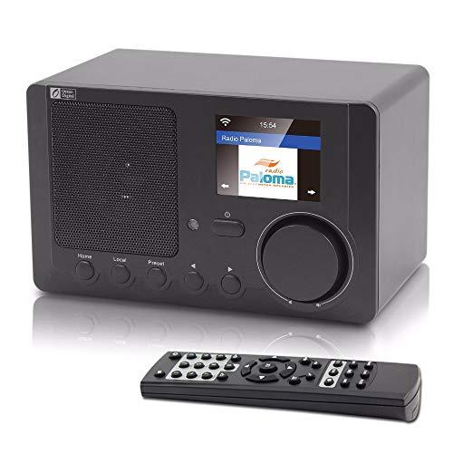 HM2 WiFi Digitales tragbares Radio, mehrsprachiges Internetradio-Menü Bluetooth Intelligent Radio, Unterstützung Sleep Timer - Dunkelgrau
