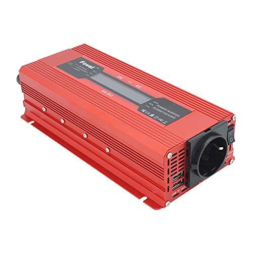 TOPmountain - 2000W Peak Solar Power Inverter für Auto, DC 12V zu 220V AC Konverter für Telefon-Haushaltsgeräte (12 Volt Zu Ac Inverter)