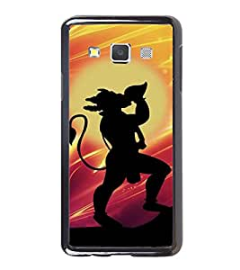 Fiobs High Glossy Designer Phone Back Case Cover Samsung Galaxy E5 (2015) :: Samsung Galaxy E5 Duos :: Samsung Galaxy E5 E500F E500H E500Hq E500M E500F/Ds E500H/Ds E500M/Ds ( Hunuman God Body Build Shadow Logo Sita Ram )