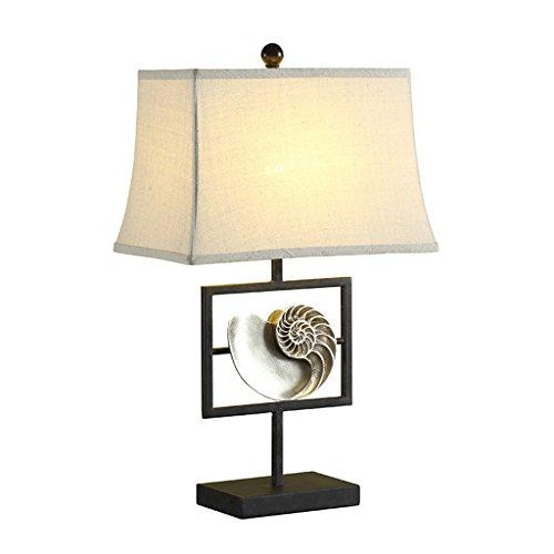 MXD Ländlichen Stil Tischlampe Schlafzimmer Nachttischlampe Moderne minimalistische Wohnzimmer Schreibtisch Licht Kreative Persönlichkeit Sea Shell Form Schreibtischlampe Hotel Villa Tischleuchte
