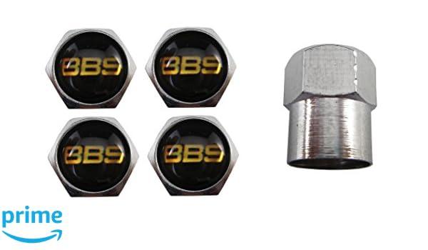 Lot de 4 bouchons de valve BBS pour valve en caoutchouc Argent/é