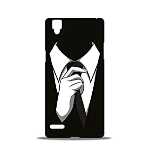 ezyPRNT Black And White Tuxedo Beautiful Premium PC Plastic Mobile Back Case Cover for Oppo F1
