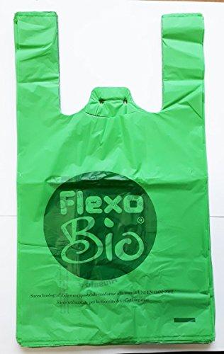 110Briefumschläge 28+ 14x 50gr. 8biologisch abbaubar kompostierbar nach EN 13432Für Geschäfte Lebensmittel, 60097100mit Klettverschluss und Öse zum Aufhängen Shopper Taschen Bio (Bio-shopper)