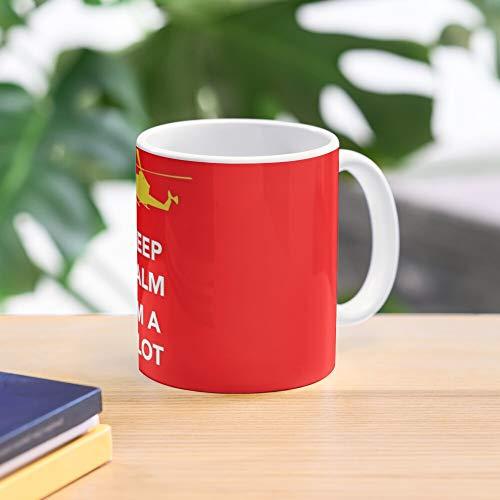 Keep Calm Chopper Plane Helicopter Fly Airplane Pilot Meistverkaufte Standardkaffee 11 Unzen Geschenk Tassen für alle