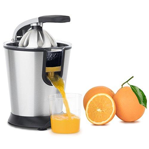 H.Koenig AGR80 Exprimidor Eléctrico para Zumos de Cítricos y Naranjas, Con Brazo Articulado Profesional...