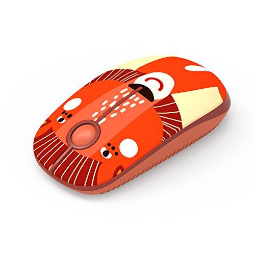 Kabellose Maus, Jelly Comb 2.4G Maus Schnurlos Wireless Kabellos Optische Maus mit USB Nano Empfänger für PC / Tablet / Laptop und Windows / Mac / Linux (Karton-Löwe)