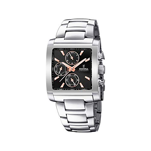 Festina Herren Chronograph Quarz Uhr mit Edelstahl Armband F20423/4