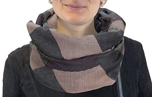 PiriModa XXL Neue Kollektion Damen Schal leichter Schlauchschal Viele Farben (Rosa/Grau/Aubergine/Schwarz)