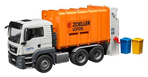 bruder 03762 TGS Müll-LKW Hecklader, Fahrzeug, bunt