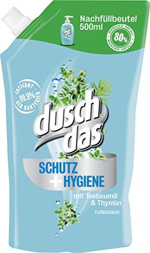 Duschdas Flüssigseife Schutz & Hygiene Nachfüllbeutel, 6er Pack (6 x 500 ml)