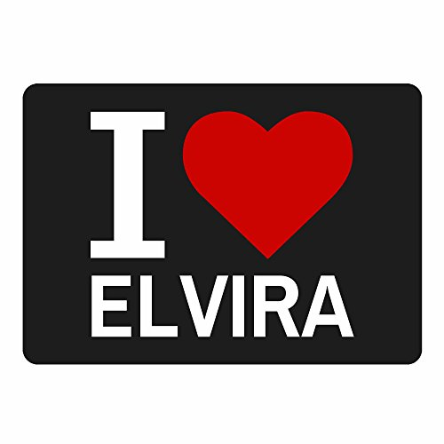 Mousepad Classic I Love Elvira schwarz