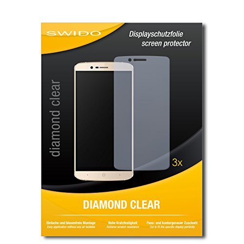 SWIDO 3 x Schutzfolie Elephone P8000 4G Bildschirmschutz Folie DiamondClear unsichtbar