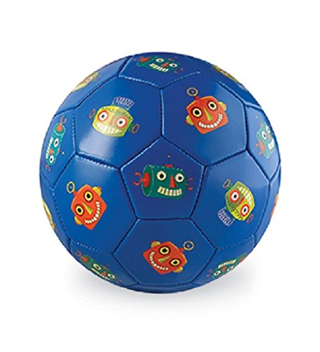 Crocodile Creek niños Robots balón de fútbol, Color Azul, tamaño 2/5.5