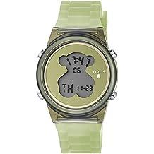 Reloj TOUS D-Bear Fresh de policarbonato con correa de silicona verde