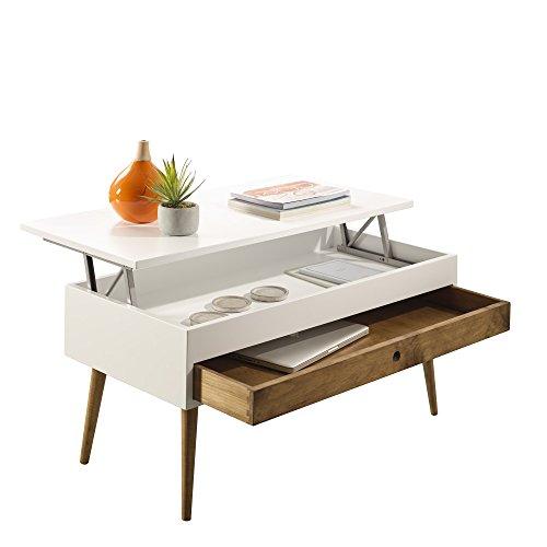 Hogar24-Mesa Centro elevable cajón Deslizante diseño