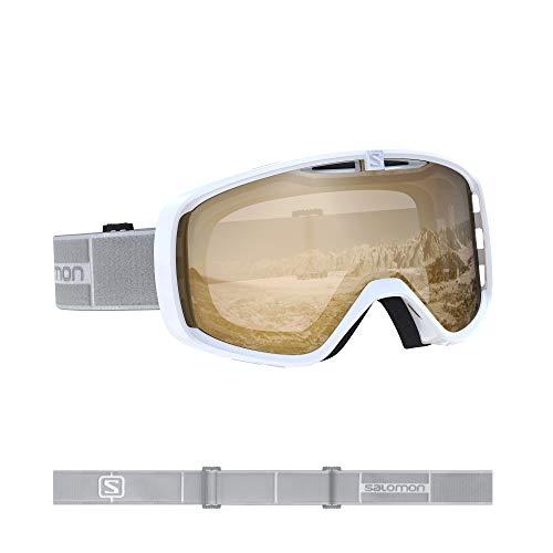 Salomon, Aksium Access, Máscara esquí unisex, Blanco/Naranja