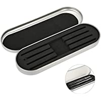 Professionelle Edelstahl Aufbewahrung Box, 4 Soft Steckplätze für Beauty Tools wie Pinzetten(Silber) preisvergleich bei billige-tabletten.eu