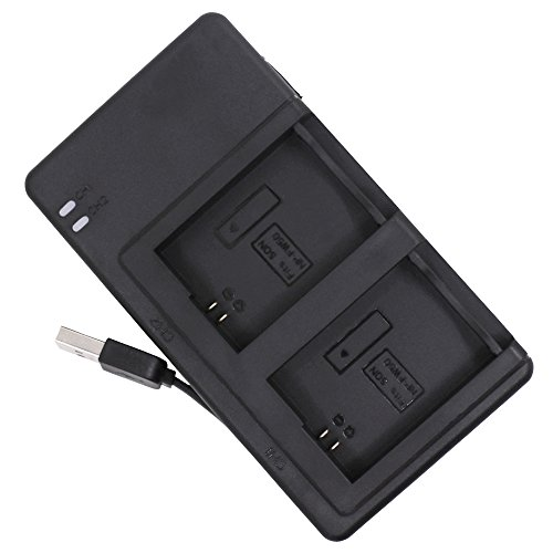 Carica batteria per Sony NP-FW50con cavo di ricarica USB, Afunta DC caricatore doppio per Sony NEX-3NEX-7NEX-C3SLT-A33A3500A5000A5100A6000A7A7R A7S A7II–nero
