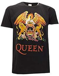 Queen Camiseta con Logo Vintage clásico Música Rock Freddie Mercury - Oficial