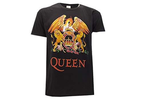 6bb5bb94354af Queen Camiseta con Logo Vintage clásico Música Rock Freddie Mercury -  Oficial (Small)