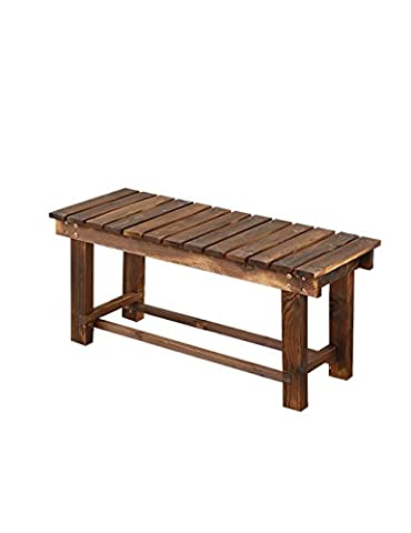 QiangDa-Plant shelf Solid Wood Flower Racks Outdoor Benches Balcony Park Bathroom Bench Anti-corrosion Flower Pot Rack Carbon Baking Color Potted shelf creative flower rack ( Size : 90*35*40cm )