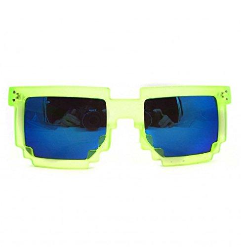 Geek Invader Pixelbrille - 8-Bit Neongelb