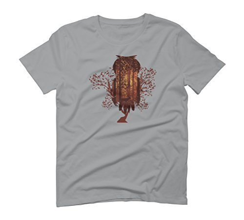 Fall forest owl Men's Graphic T-Shirt - Design By Humans Opal