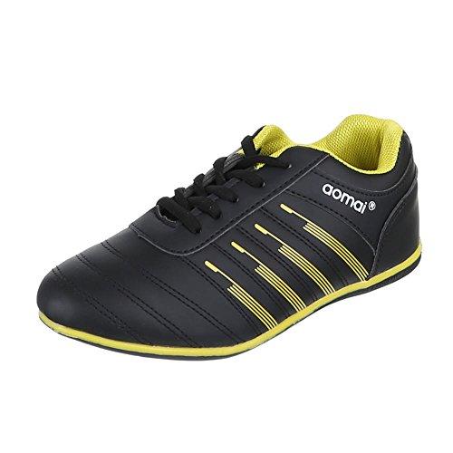 Ital-Design - Pantofole Donna Nero (Nero/Giallo)