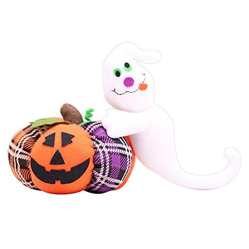 Goodtimes28Halloween-Dekoration Tuch Kürbis Katze Geist Plüsch Spielzeug Party Ornament Geschenk, Stoff, Ghost