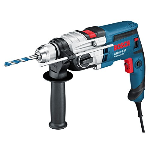 Bosch Professional 060117B500 GSB 19-2 RE Perceuse à percussion, 850 W Coffret, Bleu