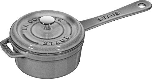 Staub 1241018 Mini Cast Iron Saucepan, 10 cm, Graphite Grey