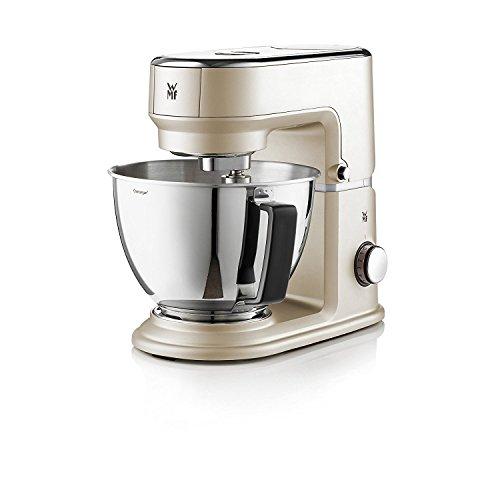 WMF 416440001 Küchenminis Küchenmaschine One for All (Cromargan-Rührschüssel 3 L, planetarisches Rührwerk, Timerfunktion, inkl. Mixeraufsatz aus Glas für Smoothies und Co.), 430 Watt, ivory mud