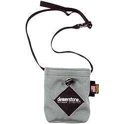dewerstone X orgánico escalada bolsa de tiza color gris oscuro con cinturón