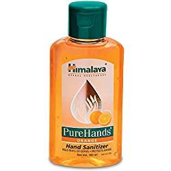 Himalaya Herbals Pure Hands Hand Sanitizer - 100 ml (Orange)