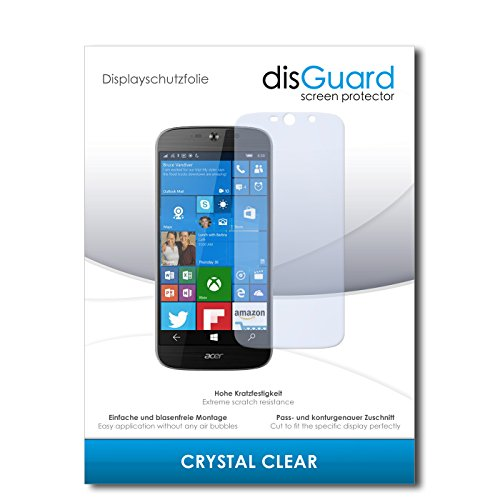 disGuard® Bildschirmschutzfolie [Crystal Clear] kompatibel mit Acer Liquid Jade Primo [4 Stück] Kristallklar, Transparent, Unsichtbar, Extrem Kratzfest, Anti-Fingerabdruck - Panzerglas Folie, Schutzfolie