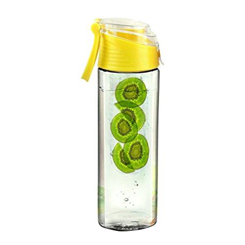 che mit Infuser Auslaufsicherem Deckel Verschluss Sportflasche für Wandern Reisen Camping 800ml (Gelb) ()
