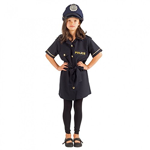 Krause & Sohn Mädchen Kostüm Polizistin Klara Kleid blau Polizei Uniform Fasching (140)